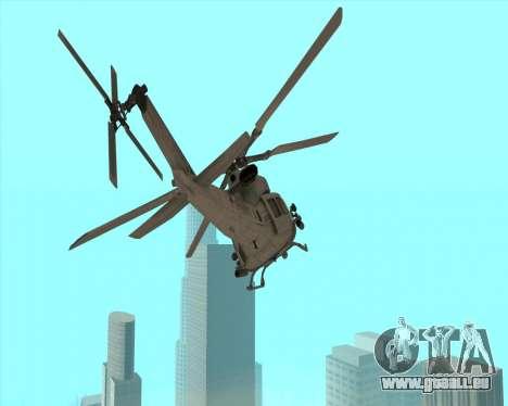 UH-1 Iroquois pour GTA San Andreas laissé vue