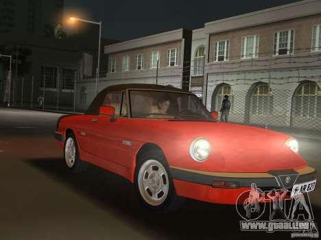 Alfa Romeo Spider 1986 pour une vue GTA Vice City de la droite