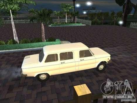 ZAZ 968 m Limousine für GTA San Andreas Innenansicht