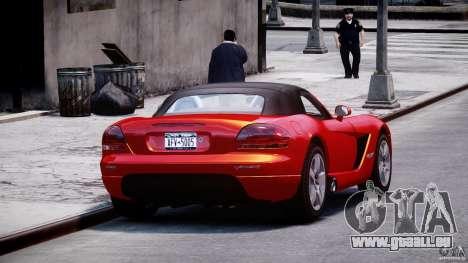 Dodge Viper SRT-10 2003 1.0 pour GTA 4 est une vue de l'intérieur