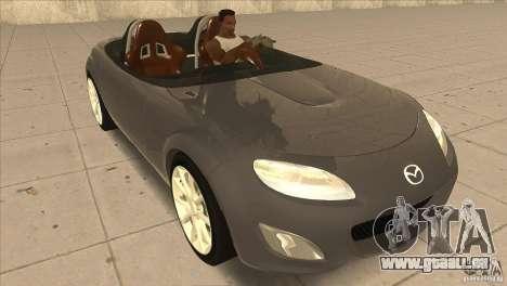 Mazda MX5 Miata Superlight 2009 V1.0 pour GTA San Andreas vue arrière
