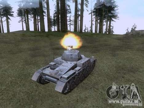 PzKpfw II Ausf.A pour GTA San Andreas vue de droite