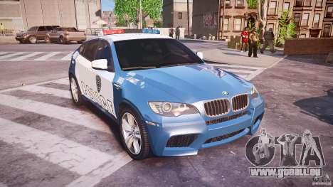 BMW X6M Police pour GTA 4 est une vue de l'intérieur