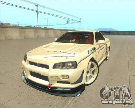Nissan Skyline GT-R R34 M-Spec Nur pour GTA San Andreas roue