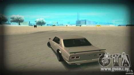 Nissan Skyline 2000GT-R JDM Style pour GTA San Andreas vue de dessus