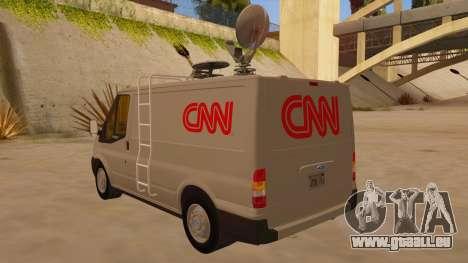 Ford Transit CNN pour GTA San Andreas sur la vue arrière gauche