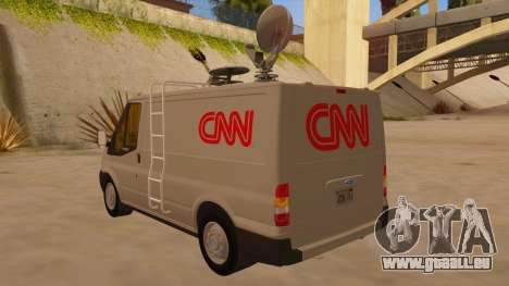 Ford Transit CNN für GTA San Andreas zurück linke Ansicht