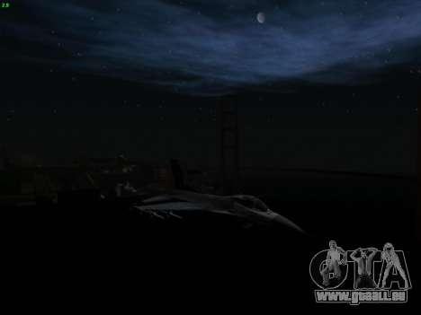 F-16C Warwolf pour GTA San Andreas vue de droite