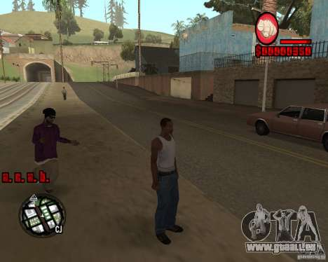 HUD by Russkiy pour GTA San Andreas troisième écran