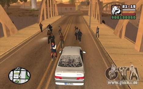 Resident Evil Dead Aim pour GTA San Andreas deuxième écran