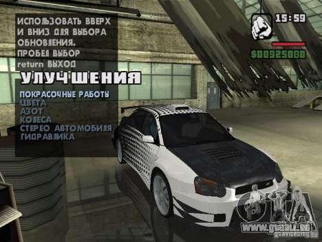Subaru Impreza Wrx Sti 2002 pour GTA San Andreas