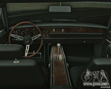 Dodge Charger RT 1969 pour GTA San Andreas vue de dessous