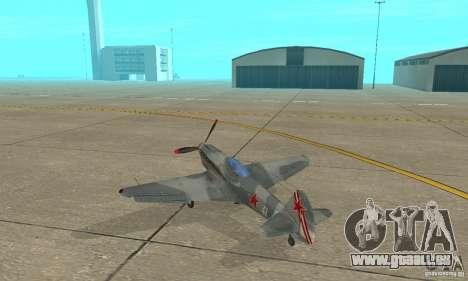 L'yak-9 en livrée, Sébastopol pour GTA San Andreas sur la vue arrière gauche