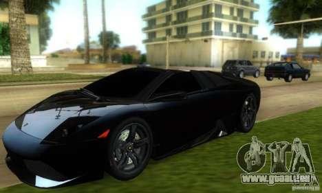 Lamborghini Murcielago LP640 Roadster pour GTA Vice City sur la vue arrière gauche
