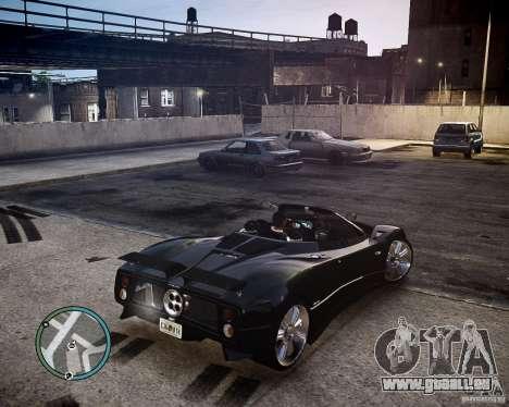 Pagani Zonda C12S Roadster pour GTA 4 Vue arrière