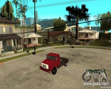 ZIL-433362 Extra Pack 1 für GTA San Andreas zurück linke Ansicht
