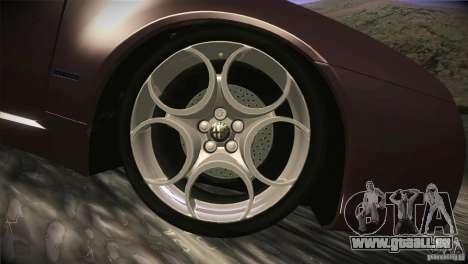 Alfa Romeo Brera Ti pour GTA San Andreas vue de dessous