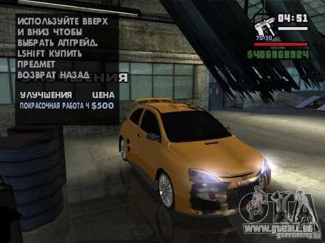 Opel Corsa Sport pour GTA San Andreas vue arrière
