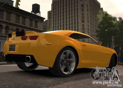 Chevrolet Camaro concept 2007 für GTA 4 hinten links Ansicht