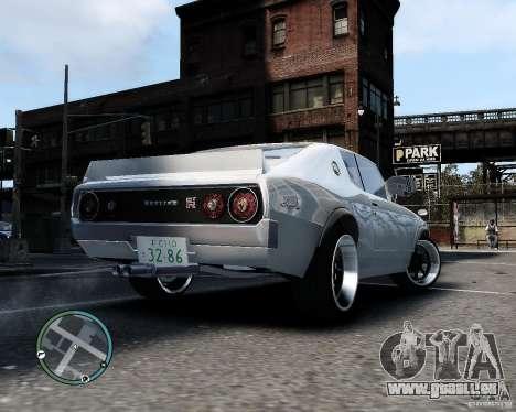 Nissan Skyline KPGC110 2000GT-X pour GTA 4 est un droit
