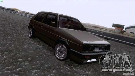 Volkswagen Golf Mk2 GTi für GTA San Andreas obere Ansicht