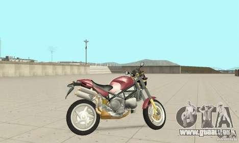 Ducati Monster S4R für GTA San Andreas zurück linke Ansicht