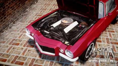 Chevrolet Camaro Z28 pour GTA 4 est une vue de l'intérieur