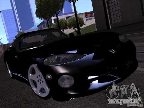 Dodge Viper für GTA San Andreas Innen