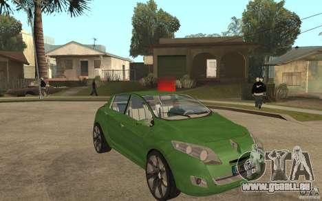 Renault Megane III pour GTA San Andreas vue arrière