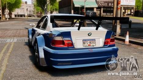 BMW M3 GTR MW 2012 für GTA 4 hinten links Ansicht