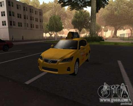 Lexus CT 200h 2011 Taxi pour GTA San Andreas