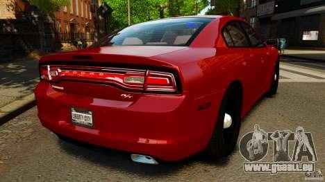 Dodge Charger RT Max FBI 2011 [ELS] pour GTA 4 Vue arrière de la gauche