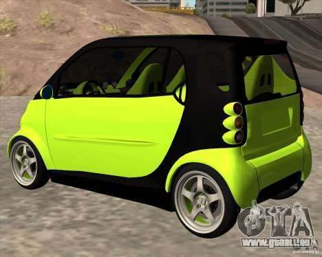 Smart Alienware für GTA San Andreas linke Ansicht