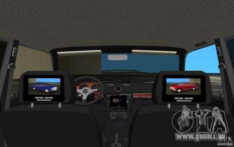 VAZ 2106 Tuning v3.0 pour une vue GTA Vice City de l'intérieur