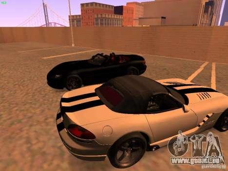 Dodge Viper SRT-10 Roadster pour GTA San Andreas laissé vue