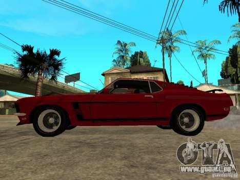 1969 Ford Mustang Boss 302 für GTA San Andreas linke Ansicht