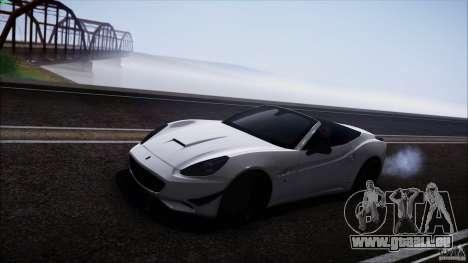 Ferrari California für GTA San Andreas zurück linke Ansicht