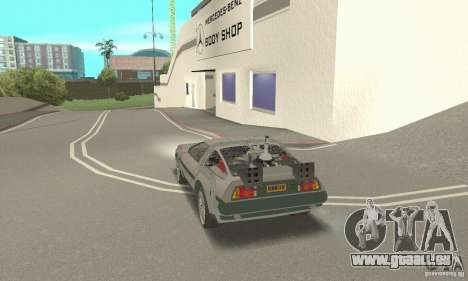 DeLorean DMC-12 (BTTF3) für GTA San Andreas linke Ansicht