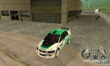 Mitsubishi Lancer Evolution IX für GTA San Andreas Motor