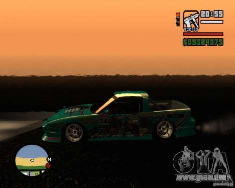Nissan RPS13 Pick-Up Moscow Drift für GTA San Andreas linke Ansicht