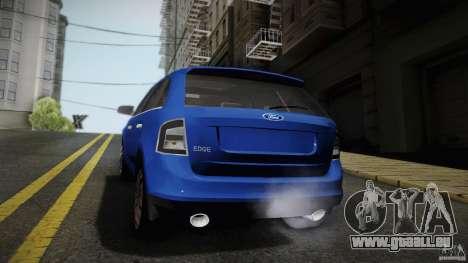 Ford Edge 2010 für GTA San Andreas zurück linke Ansicht