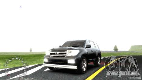 Toyota Land Cruiser 200 RESTALE pour GTA 4 vue de dessus