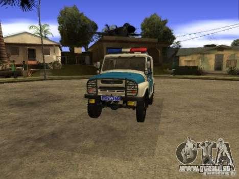 UAZ 31519 Polizei für GTA San Andreas rechten Ansicht
