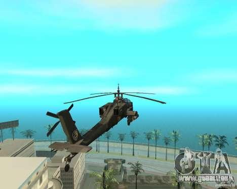Ka-50 Black Shark für GTA San Andreas rechten Ansicht
