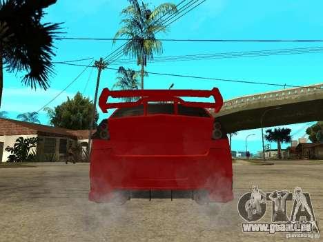 Dacia Logan Tuned v2 pour GTA San Andreas sur la vue arrière gauche