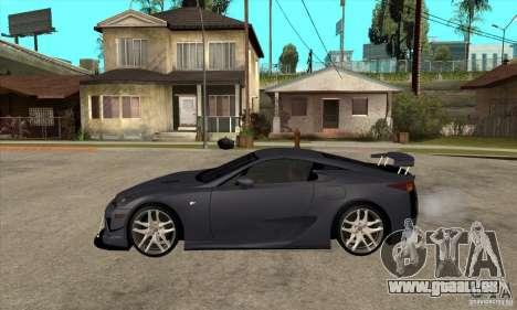 Lexus LFA 2010 v2 pour GTA San Andreas laissé vue