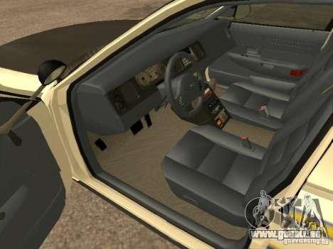 Ford Crown Victoria 2003 Police für GTA San Andreas zurück linke Ansicht