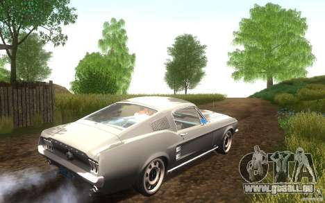 Ford Mustang 1967 American tuning pour GTA San Andreas vue arrière