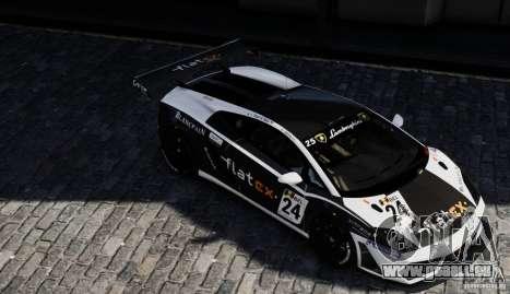 Lamborghini Gallardo LP560-4 GT3 2010 pour GTA 4 est un droit
