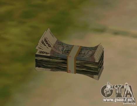 Roubles, ainsi que de dollars pour GTA San Andreas